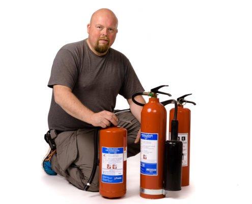 Kontroll av brannslukkere